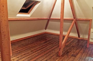 Lovely loft conversion pine sanded and finished with a natural charcoal oil